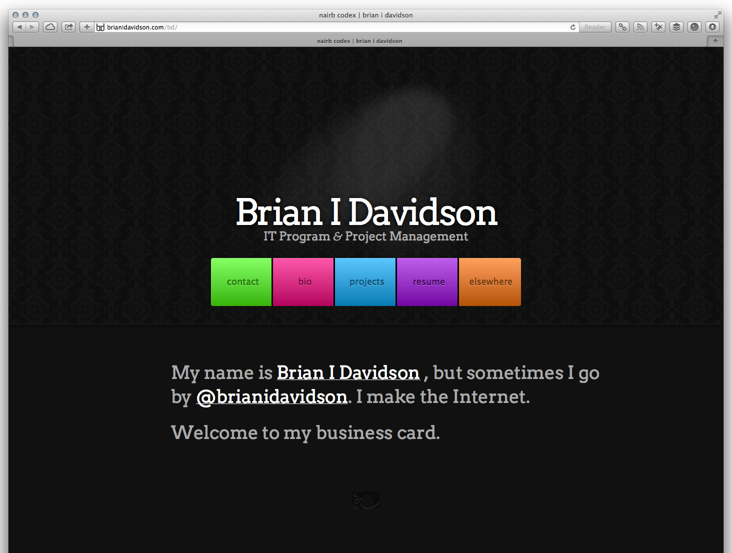 Brian I Davidson stole my website