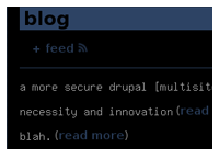 Drupal dynamically generated MySpace blog replacement