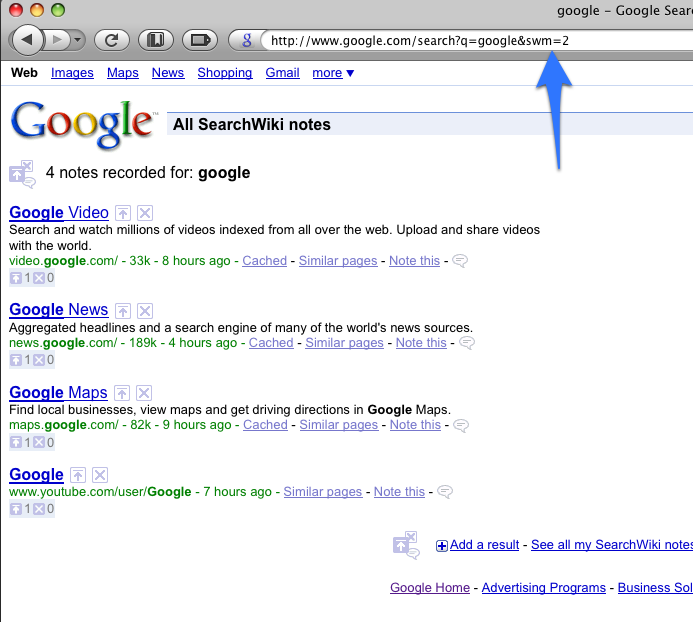 SearchWiki — Google's customized social search — is back — justin