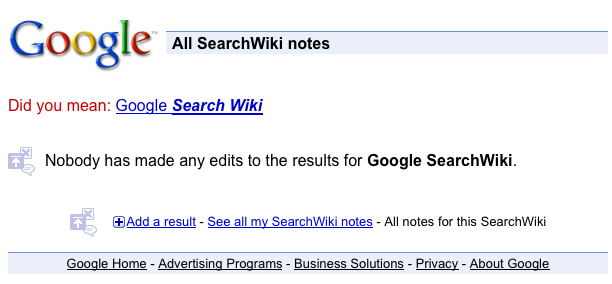 Google SearchWiki - See all notes