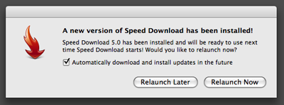 A new version of Speed Download has been installed!